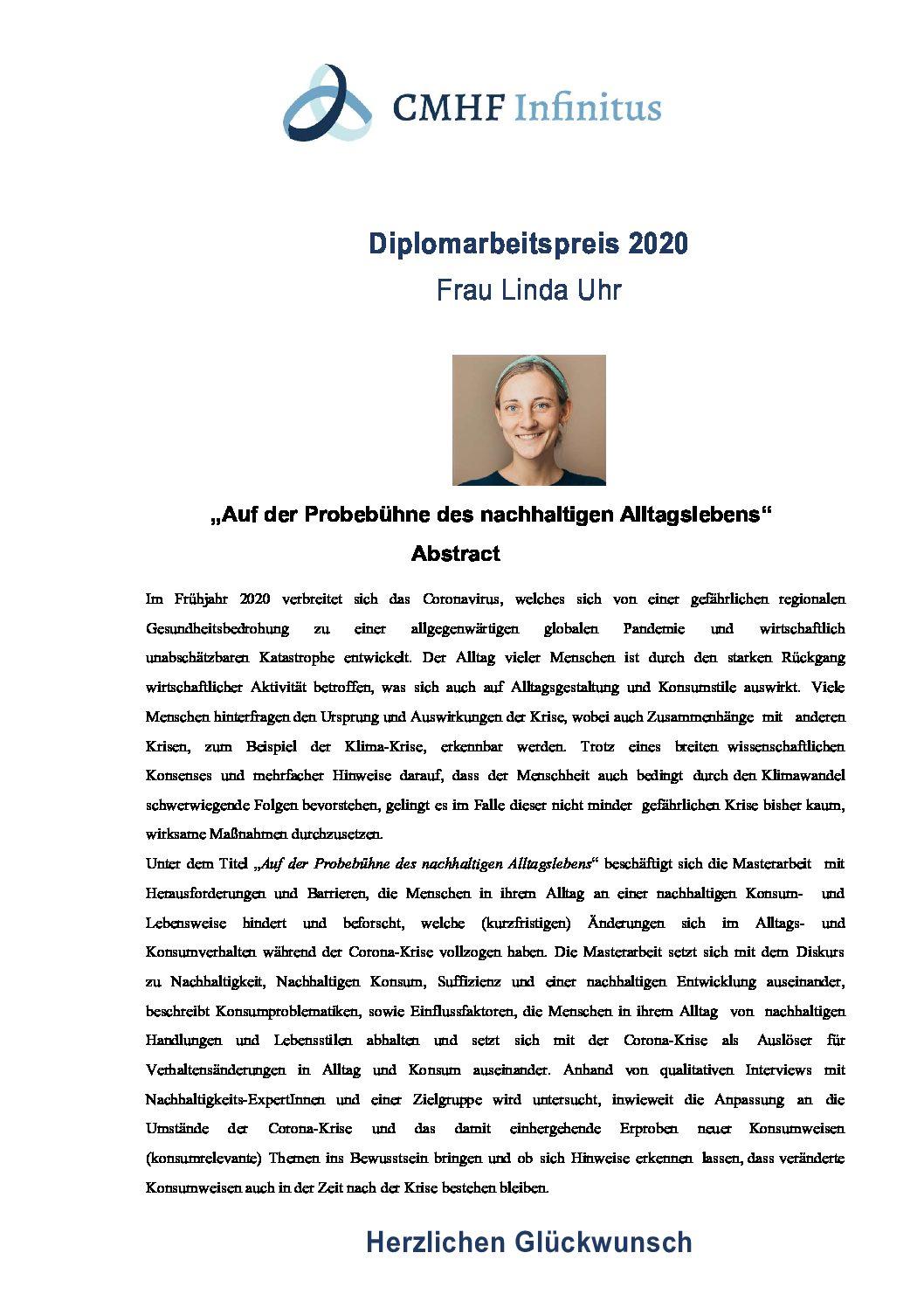 Diplomarbeitspreis 2020